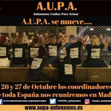 A.U.P.A. COGE IMPULSO EN MADRID
