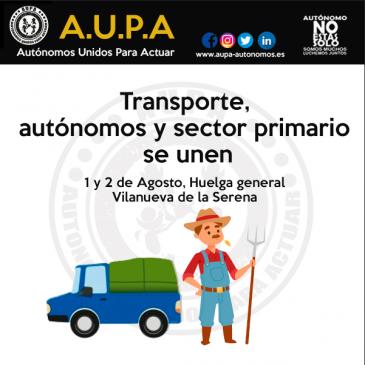 Autónomos, Transporte y sector primario se unen